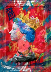 Graffiti Queen by Dan Pearce - Original Glazed Mixed Media on Board sized 23x35 inches. Available from Whitewall Galleries
